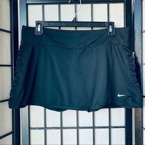 Nike tie breaker tennis skort skirt black sz L